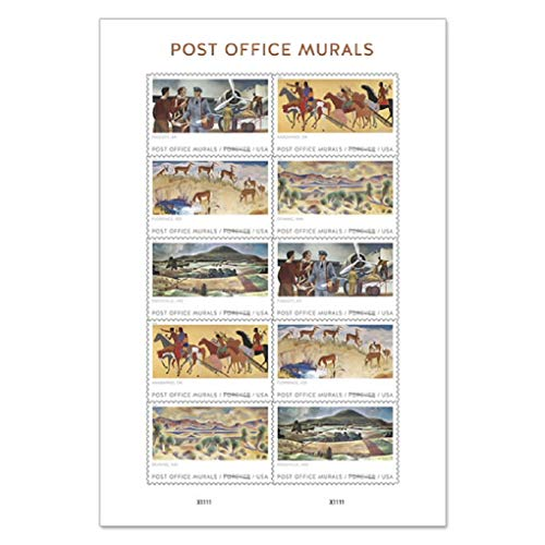 Post Office Murals Forever Stamps 2019 Release (One Sheet of 10)