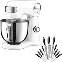 Cuisinart Precision Master 5.5-Quart Stand Mixer, White Linen (SM-50) Bundle With Deco Chef Gourmet 12 Piece Stainless Ste...