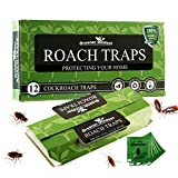 Greener Mindset 12 Pack Cockroach Traps - Eco Friendly Glue Traps - Sticky Traps - Roach Killer - Roaches Spiders Ant Trap