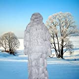 LUCKYYAN Ghost Ghillie Suit Snow - Military, Hunting, Airsoft, Paintball High-Density Ghillie Suit
