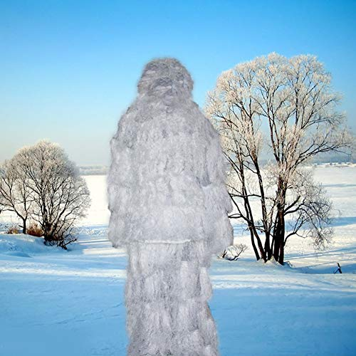 XYLUCKY Ghost Ghillie Suit Snow-Military, Hunting, Airsoft, Paintball High-Density Ghillie Suit