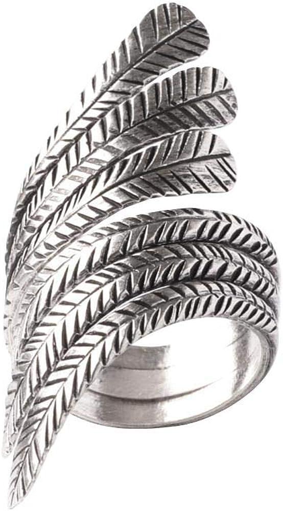 81stgeneration Women's Austin Mall .925 Credence Sterling Adjusta Leaf Feather Silver