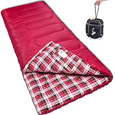 Reisen Warm & Cold Weather Sleeping Bag, 0 Degree Celsius Lightweight Sleeping Bags for Adults/Youth, Great for 3-4 Season Backpacking/Camping/Hiking (30°F-50°F) …