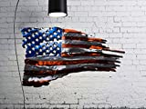 24' or 36' Tattered American Flag Metal Wall Art | 14 gauge cold rolled steel | Made in the USA