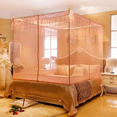 hdfj12138 Dreitüriges Moskitonetz 1.8 Reißverschluss Sitzbett quadratische Jurte 2 Meter Palast Doppel 1,5 m Bettboden Moskitonetz-Treffen Sie diesen Sommer Jade farbigen Boden 150 * 200