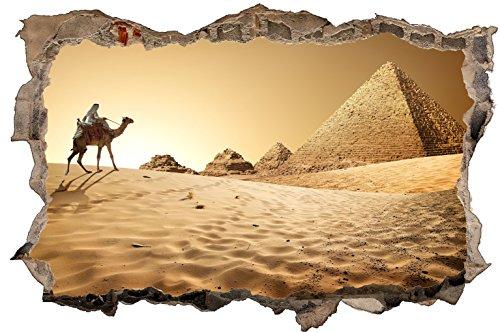 DesFoli Ägypten Pyramide 3D Look Wandtattoo 70 x 115 cm Wanddurchbruch Wandbild Sticker Aufkleber D444