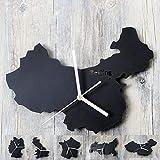 Reloj de Pared Mapa del Mundo Relojes Decoración del Hogar Muro País Berlín París Londres Relojes Tipo Mapa De Diseño Único Regalos para El Hogar Relo