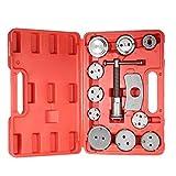 Caja herramientas 12pcs automática de disco universal de pinza de freno de automóviles Garaje de reparación kit de herramienta del coche del viento Volver Pad compresor de pistón con el caso