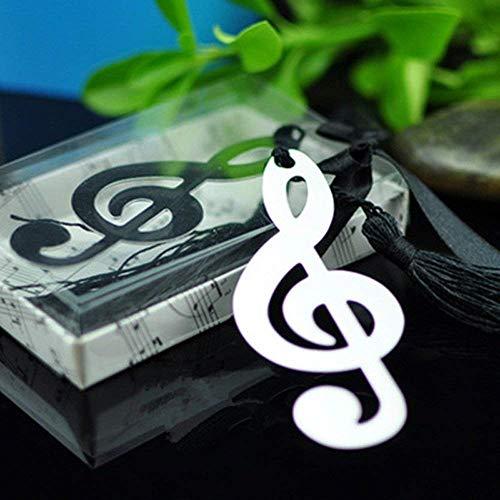 10 pezzi cava note musicali segnalibri in metallo con mini biglietti di auguri nappe ciondolo regali matrimonio