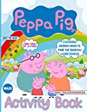 Peppa Pig Activity Book: Premium Find Shadow, Dot To Dot, Word Search, Spot Differences, Maze, One Of A Kind, Hidden Objects, Coloring Activities Books For Kid, Adult A Fun Gift