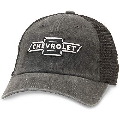 American Needle Raglan Bones Chevrolet Trucker Hat (GM-1909A-BLK)