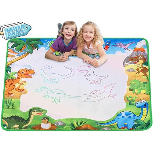 Fanmad Aqua Magic Doodles Matte Spielzeug - XXL Größe 90x78 cm mit Wasserstift Wasser Spiele Geschenke ab 2 Jahre (Dinosaurier-Design)