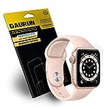 GAURUN Apple Watch 【44mm】 Series SE/6/5/4 画面保護フィルム【2枚入り】 最高級TPU採用 自動修復 気泡除去 リアルカーブドフィット