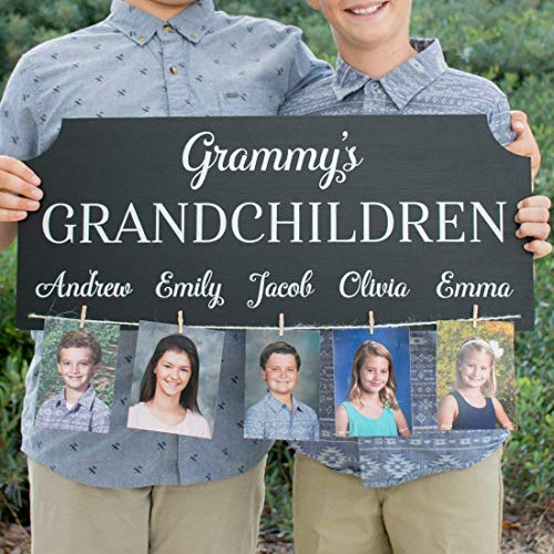 Personalized Grandchildren Photo Sign - Any Title and Names