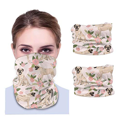 ZHANGPEIENfaqi Mastín Inglés Mastín Mastín Variedad de toallas para la cara Unisex Multiusos Pañuelo y máscara de cuello con bolsillo interior (2 piezas) Negro