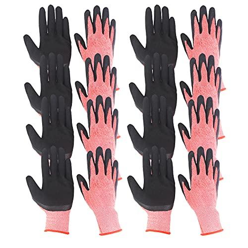 Atlnso 7 paar leren handschoenen tuinhandschoenen voor dames en heren, doornbestendig, tuinhandschoenen, grafhandschoenen voor tuinieren, snijden en bouwen