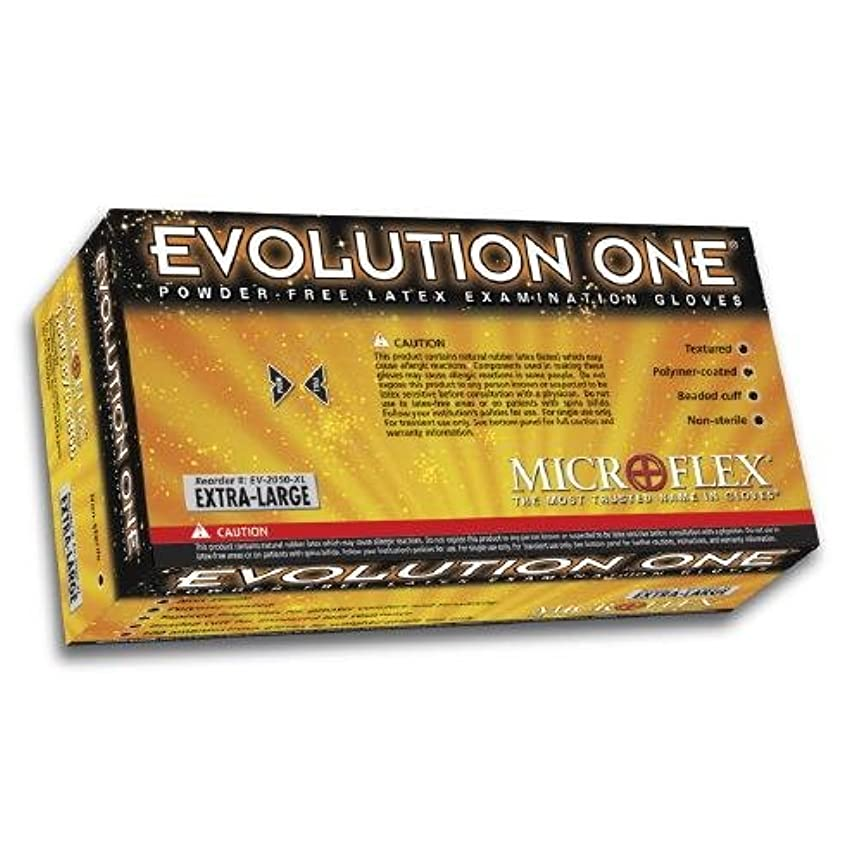好戦的なミンチ買い手BarrierSafe Solutions International EV-2050-S Microflex Evolution One 5 1/2 mil Latex Ambidextrous Non-Sterile Powder-Free Disposable Gloves with Textured Finish, Small, 10, Natural by BarrierSafe Solutions International