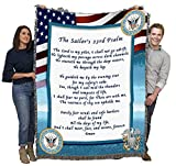 US Navy - The Sailor's 23rd Psalm - Cotton Woven Blanket Throw - Made in The USA (72x54)