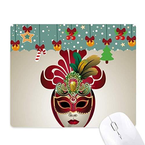 Ronde gezichtsmasker gelukkig carnaval van Venetië muismat spel Office Mat Kerstmis Rubber Pad