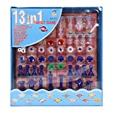 jesilo 13 in 1 Magnetic Chess, Snake & Ladder, Backgammon, Tic-Tac-Toe, Travel Bingo