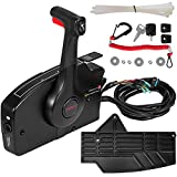 Mophorn Outboard Remote Control Side Mount 881170A13 with 14 Pin Outboard Motor Controls 15 Feet Harness Fit for Mercury Outboard Control