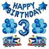 JSJJAER Globos de cumpleaños 38 unids Tren Globo Bombero camión Ambulancia escuelas de Transporte Transporte ingeniería Coche Ballon cumpleaños Fiesta decoración Juguete Regalo CREA una atmósfera