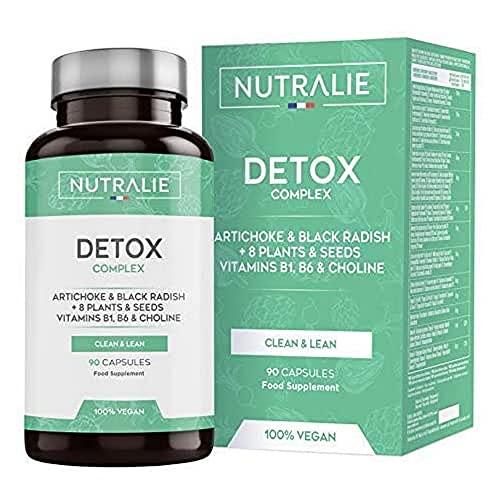 Detox Leistungsstark Leber | Artischocke Schwarzem Rettich Vitaminen Pflanzen Samen | 90 Kapseln Nutralie