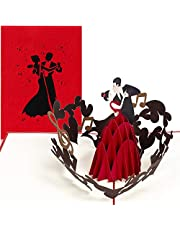 PaperCrush® pop-up kaart dansen [NIEUW] - 3D-kaart met danspaar voor diverse gelegenheden (danscursus tegoedbon, huwelijkskaart, Valentijnsdag, verjaardagskaart voor vrouw of vriendin
