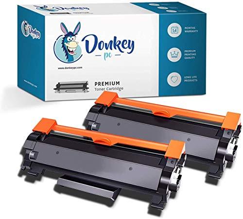 Donkey pc 2X TN2420 TN-2420 TN2410 TN-2410 Toner Compatibile per Brother HL-L2310D HL-L2350DW HL-L2370DN HL-L2375DW DCP-L2510D DCP-L2530DW DCP-L2550DN MFC-L2710DW MFC-L2730DW MFC-L2750DW 6000p