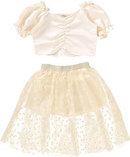 FORESTIME Girls Dress,Autumn Winter Toddler Kids Lapel Pure Color Button Cardigan Coat Tops Dress Skirt Suit