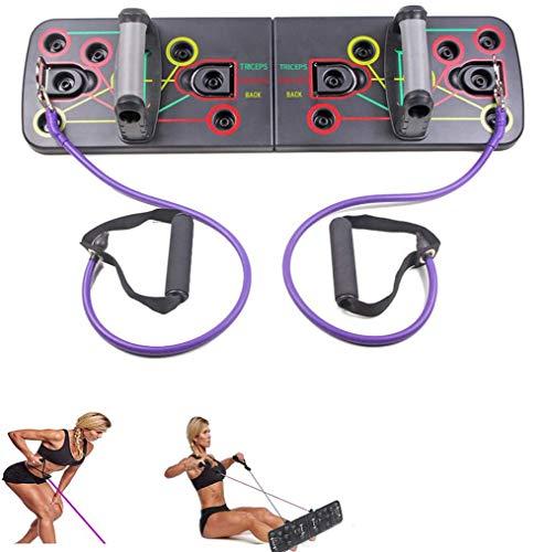 LNLJ - Juego de tablas de flexiones con código de color - Sistema completo de entrenamiento de flexión, 13 en 1 equipo de fitness para entrenamientos en casa, incluye banda de resistencia
