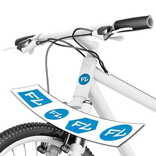 style4Bike Fahrradaufkleber Initalen für Steuerrohr toller Aufkleber mit Initale Ihres Namens| S4B0205