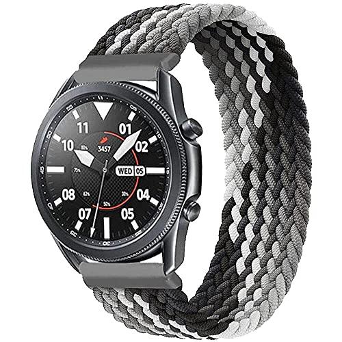 編組ソロループ22mmコンパチブルSamsung Galaxy Watch 3 45mm/Galaxy Watch 46mm/Gear S3 コンパチブルHuawei Watch GT2 Pro/GT2e/GT 46mm solo loop伸縮性ナイロンシリコン生地スポーツストラップ