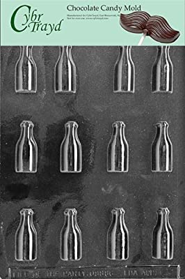 Cybrtrayd Life of the Party AO028 Bottles All Occasions Chocolate Candy Mold in Sealed Protective Poly Bag Imprinted with Copyrighted Cybrtrayd Molding Instructions , Small
