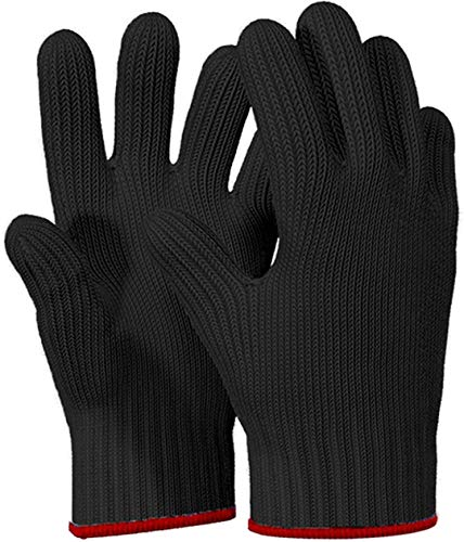 1 PAIR Heat Resistant Gloves Oven Gloves Heat Resistant With Fingers Oven Mitts Kitchen Pot Holders...