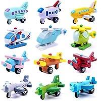 Generic 12 Parti in Legno di Aerei Ed Elicotteri, Abilità Motorie Fini, Coordinamento Occhio-Mano #2