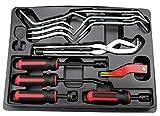 Kauplus Brake Service Kit, 14-Piece Professional Drum Brake Tool Set w/Brake Lining Gauge…