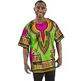 GYH T-Shirt de Impresión de Hombres Poliéster Étnico Viento Suelto Manga Corta Cuello Redondo Personalidad Top Top Camiseta/H/M
