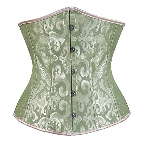 DDSP Cintura De Corsé Cintura para Adelgazar Cincher Mujer Corsé Pink Black Corset Underwear (Color : 9427 Green, Size : XL.)