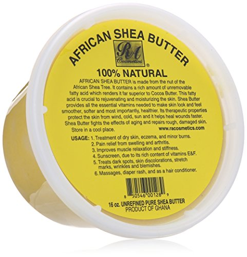 RA Cosmetics 100% African Shea Butter - Solid 235 ml by RA Cosmetics