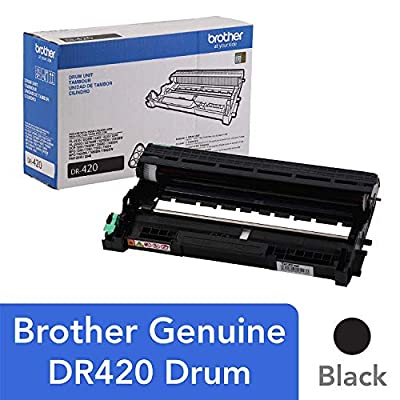 Brother Genuine Drum Unit, DR420, Seamless Integration, Yields Up to 12,000 pages, Black