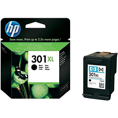 HP 301XL CH563EE, Negro, Cartucho de Tinta de Alta Capacidad Original, compatible con impresoras de inyección de tinta HP DeskJet 1050, 2540, 3050;OfficeJet 2620,4630;ENVY 4500,5530