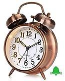 Reloj Despertador Retro, Reloj Despertador Antiguo con Doble Campana Gemela sin Tic...