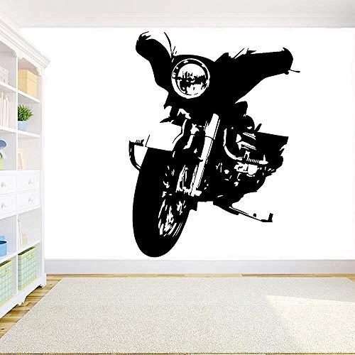 Motocicleta Motor Vinilo Etiqueta de la pared Flor Etiqueta de la pared Arte Yoga Meditación Flor religiosa