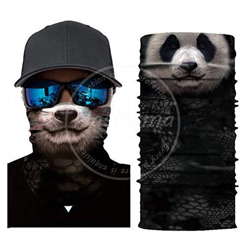 Panda Outdoor Gesichtstuch winddichtes Lätzchen Sonnenschutz Turban Staubmaske 3D-Druck winddichter Hals Helm Futter Schal multifunktionales elastisches Handtuch