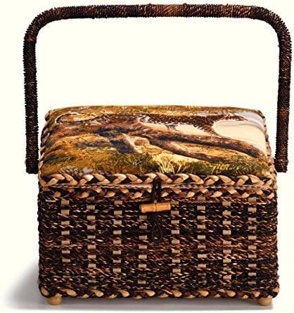 Prym Safari 1 year warranty Print Medium Craft 2021 new Beige Basket Storage Brown Dark
