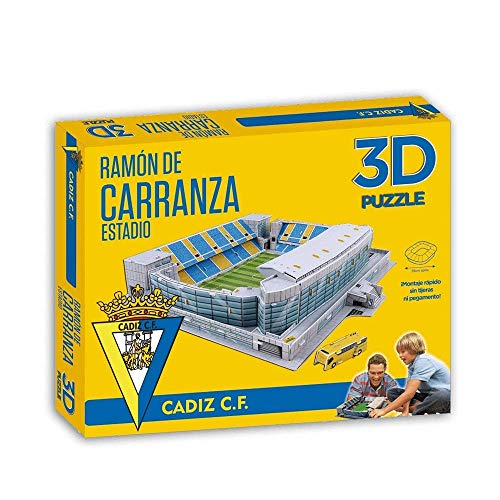 ELEVEN FORCE Puzzle Estadio 3D Ramón Carranza (Cádiz CF) (63126), Multicolor, Ninguna