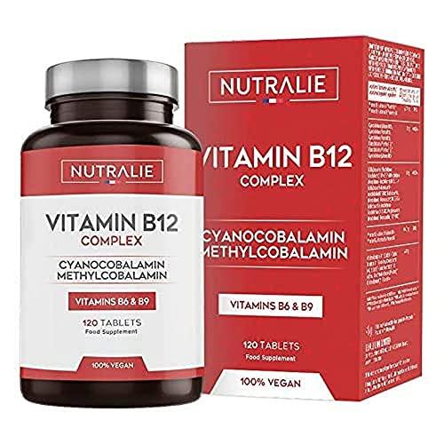 Vitamina B12 Vegana 2000mcg Cianocobalamina y Metilcobalamina | 120 Comprimidos Veganos Nutralie