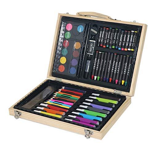 68 stks Professionele Tekening Schilderijen Set Kunst Schets Potlood Kleurplaten Verf Pen Olie Artiest Kit