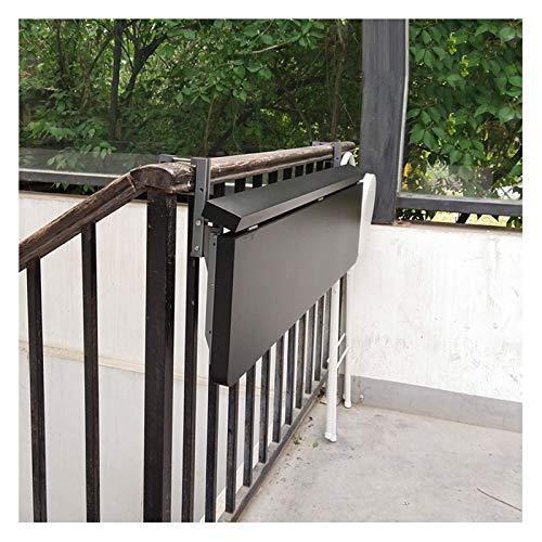 Mesa colgante de barandilla, mesa plegable de aluminio ajustable en altura, balcón,...